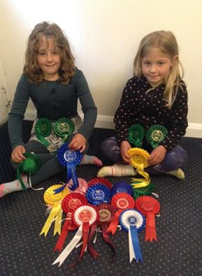 rosettes and girls